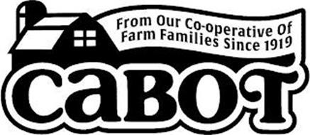 CABOT FROM OUR CO-OPERATIVE OF FARM FAMILIES SINCE 1919