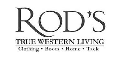 ROD'S TRUE WESTERN LIVING CLOTHING · BOOTS · HOME TACK