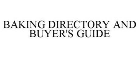 BAKING DIRECTORY AND BUYER'S GUIDE