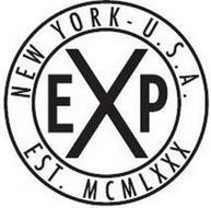EXP NEW YORK - U.S.A. EST. MCMLXXX