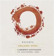 RESERVA · ORGANIC WINE · CABERNET SAUVIGNON D.O. VALLE CENTRAL · CHILE