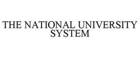 THE NATIONAL UNIVERSITY SYSTEM