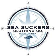 N S E W SEA SUCKERS CLOTHING CO. WAVE ON USA