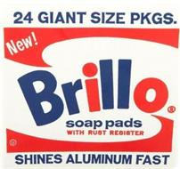 NEW! BRILLO SOAP PADS WITH RUST RESISTER 24 GIANT SIZE PKGS SHINES ALUMINUM FAST