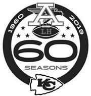1960 2019 60 SEASONS KC A