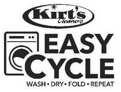 KIRT'S CLEANERS EASY CYCLE WASH DRY FOLD REPEAT