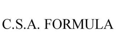 C.S.A. FORMULA