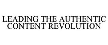 LEADING THE AUTHENTIC CONTENT REVOLUTION