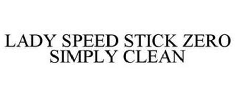 LADY SPEED STICK ZERO SIMPLY CLEAN