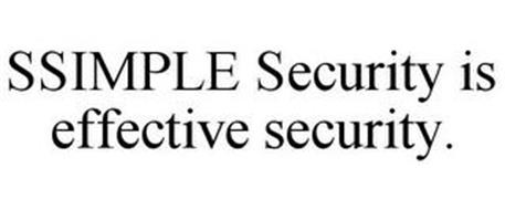 SSIMPLE SECURITY IS EFFECTIVE SECURITY.