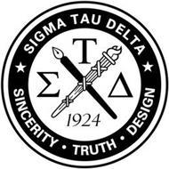 SIGMA TAU DELTA SINCERITY· TRUTH· DESIGN 1924