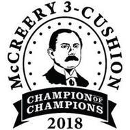 MCCREERY 3-CUSHION CHAMPION OF CHAMPIONS 2018
