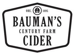 BAUMAN'S CIDER CENTURY FARM ORE. 1895