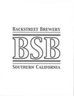 BACKSTREET BREWERY BSB SOUTHERN CALIFORNIA