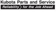 KUBOTA PARTS AND SERVICE RELIABILITY FOR THE JOB AHEAD