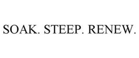 SOAK · STEEP · RENEW