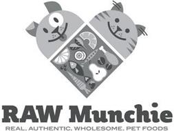 RAW MUNCHIE REAL. AUTHENTIC. WHOLESOME. PET FOODS