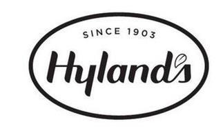 SINCE 1903 HYLAND'S