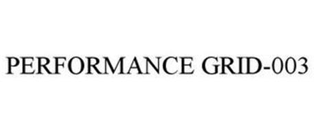 PERFORMANCE GRID-003