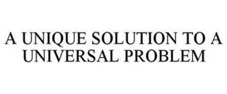 A UNIQUE SOLUTION TO A UNIVERSAL PROBLEM