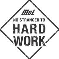 MCL NO STRANGER TO HARD WORK