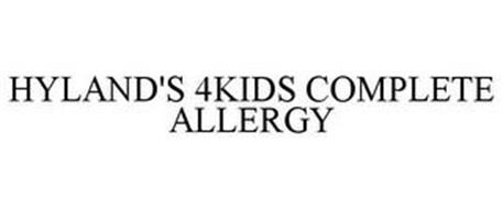 HYLAND'S 4KIDS COMPLETE ALLERGY