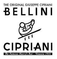 THE ORIGINAL GIUSEPPE CIPRIANI BELLINI CIPRIANI THE FAMOUS HARRY'S BAR -VENEZIA 1931