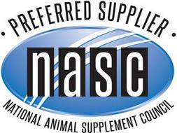 NASC · PREFERRED SUPPLIER · NATIONAL ANIMAL SUPPLEMENT COUNCIL