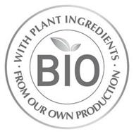 BIO· WITH PLANT INGREDIENTS ·FROM OUR OWN PRODUCTION