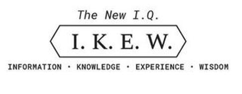 THE NEW I.Q. I.K.E.W. INFORMATION ·KNOWLEDGE·EXPERIENCE·WISDOM