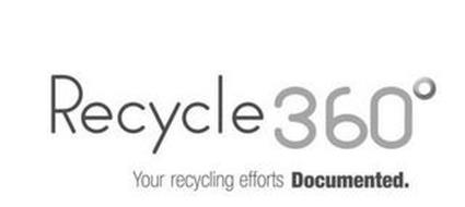 RECYCLE 360° YOUR RECYCLING EFFORTS DOCUMENTED.