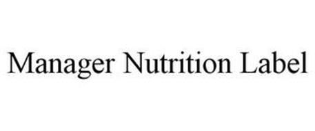 MANAGER NUTRITION LABEL