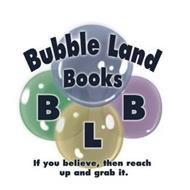 BUBBLE LAND BOOKS B L B IF YOU BELIEVE,THEN REACH UP AND GRAB IT.
