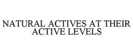 NATURAL ACTIVES AT THEIR ACTIVE LEVELS