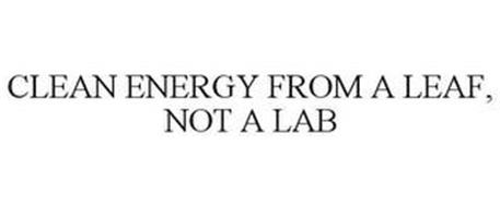 CLEAN ENERGY FROM A LEAF, NOT A LAB