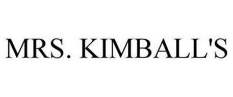 MRS. KIMBALL'S