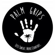 PALM GRIPS LESS SWEAT. MORE COMFORT.