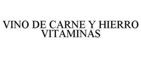 VINO DE CARNE Y HIERRO VITAMINAS