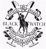 RLC OFFICIAL SPONSOR BLACK WATCH COMPETITION POLO TEAM POLO RALPH LAUREN CO.