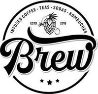 BREW INFUSED COFFEE · TEAS · SODAS · KOMBUCHAS ESTD 2018