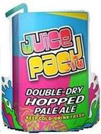 JUICE PACK DOUBLE-DRY HOPPED PALE ALE KEEP COLD DRINK FRESH