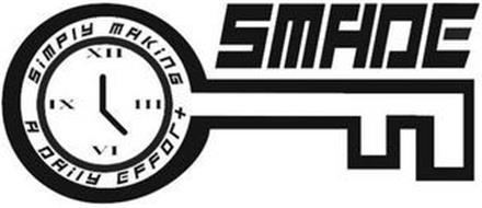 SMADE SIMPLY MAKING A DAILY EFFORT III VI IX XII