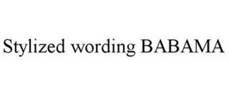 STYLIZED WORDING BABAMA