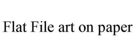 FLAT FILE ART ON PAPER
