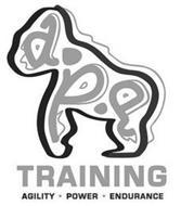 A.P.E TRAINING AGILITY · POWER · ENDURANCE