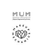 MUM MAKEUP MECHANICS OBJECTS ENGINEEREDBY ARTISTS