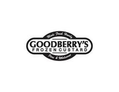 MADE FRESH HOURLY GOODBERRY'S FROZEN CUSTARD PURE & WHOLESOME