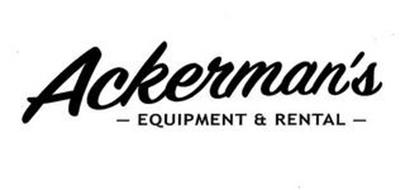 ACKERMAN'S - EQUIPMENT & RENTAL -