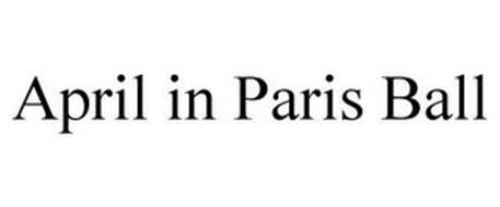 APRIL IN PARIS BALL