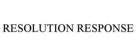 RESOLUTION RESPONSE